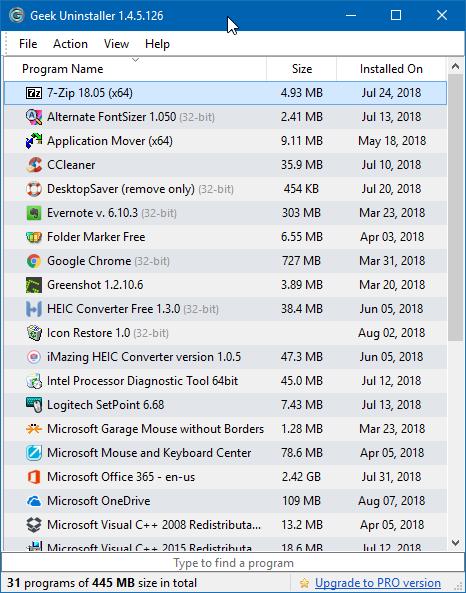 Uninstall programs that won't uninstall in Windows 10 pic2
