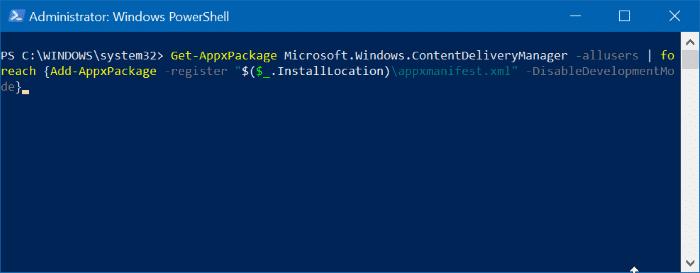 Windows spotlight not working in Windows 10 pic3
