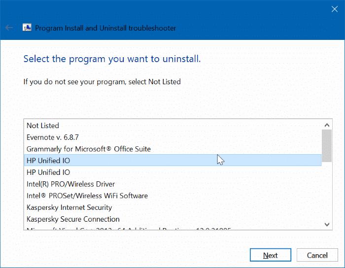 uninstall programs that won't uninstall in Windows 10