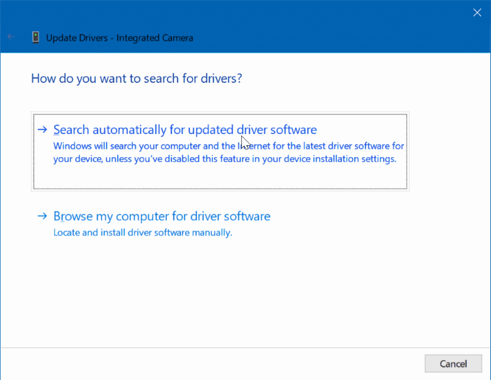 we can't find your camera error in Windows 10 pic7