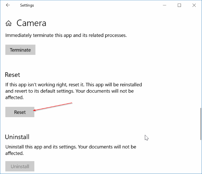 we can't find your camera error in Windows 10 pic8