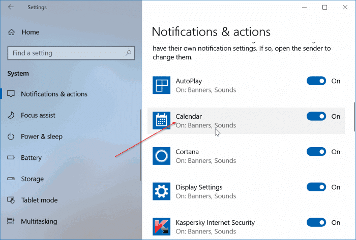 disable birthday notifications in Windows 10 pic1