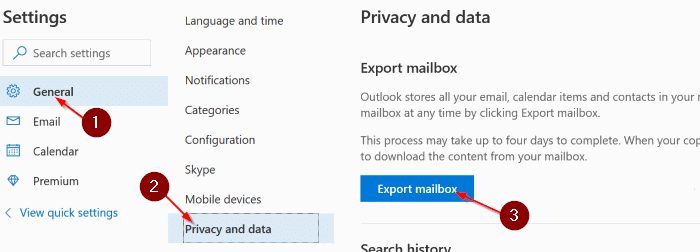 download Outlook.com emails and contacts pic1.1