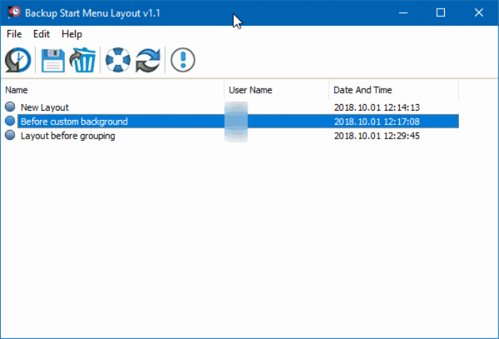 backup and restore Start menu layout in Windows 10 pic1