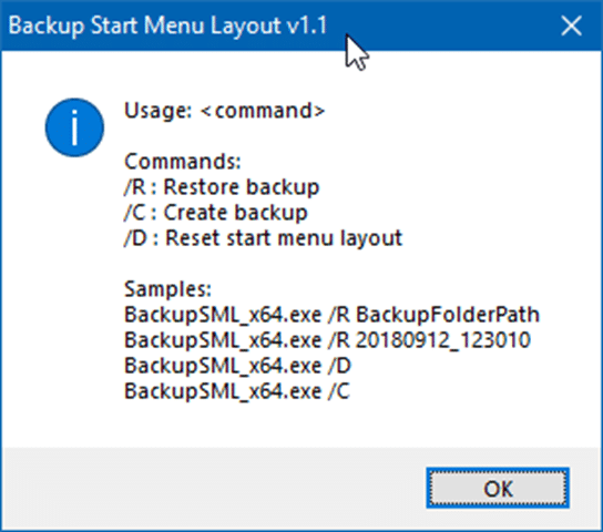 backup and restore Start menu layout in Windows 10 pic3