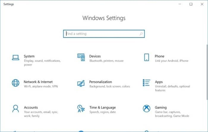 enable or disable settings and Control Panel in Windows 10 pic1