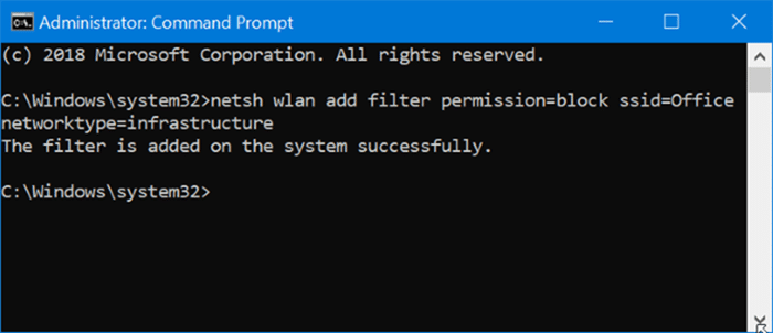 hide Wi-Fi networks in Windows 10 pic2