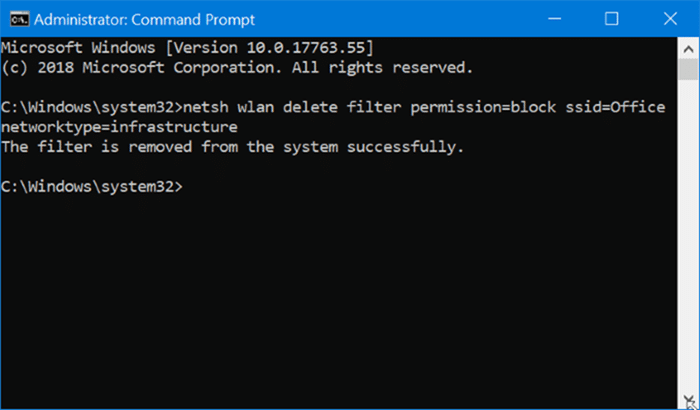 hide Wi-Fi networks in Windows 10 pic3