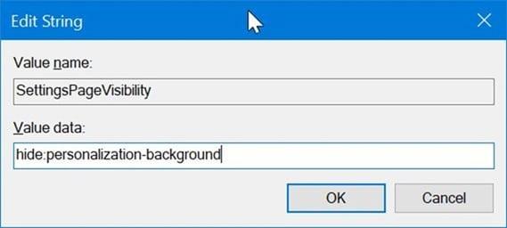 ẩn các trang cụ thể của ứng dụng Cài đặt trong Windows 10 pic4.1