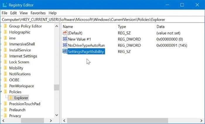 ẩn các trang cụ thể của ứng dụng Cài đặt trong Windows 10 pic4