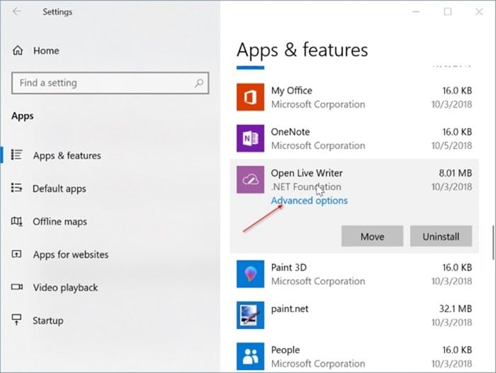 installed app not showing in Start menu in Windows 10 pic1