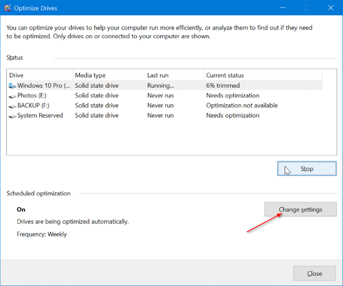 optimize drives2