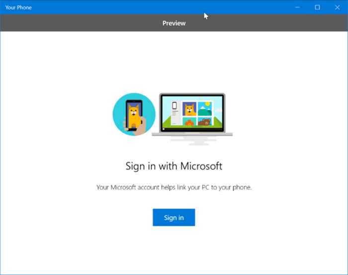receive and send text messages from your Windows 10 PC pic1