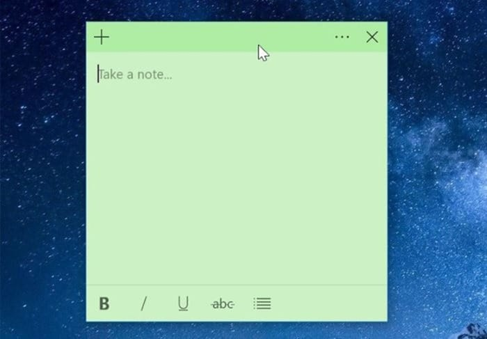 sticky notes doens't sync in windows 10 pic01