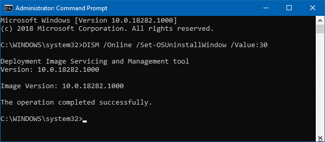 Go back to previous version of Windows 10 after 10 days (2)