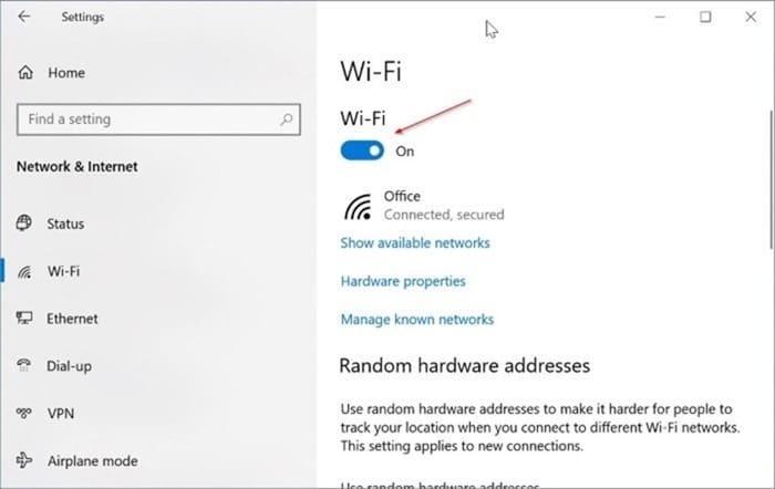 Windows 10 showing ethernet icon instead of Wi Fi pic2.png