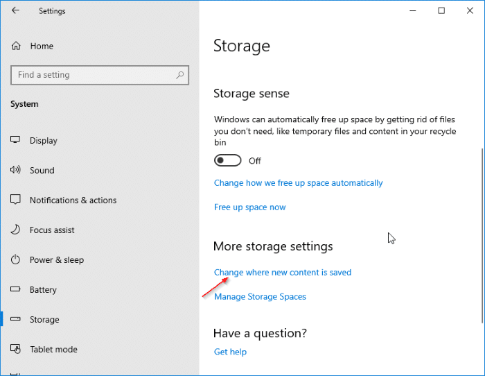 change download location of Windows Store apps in Windows 10 pic3
