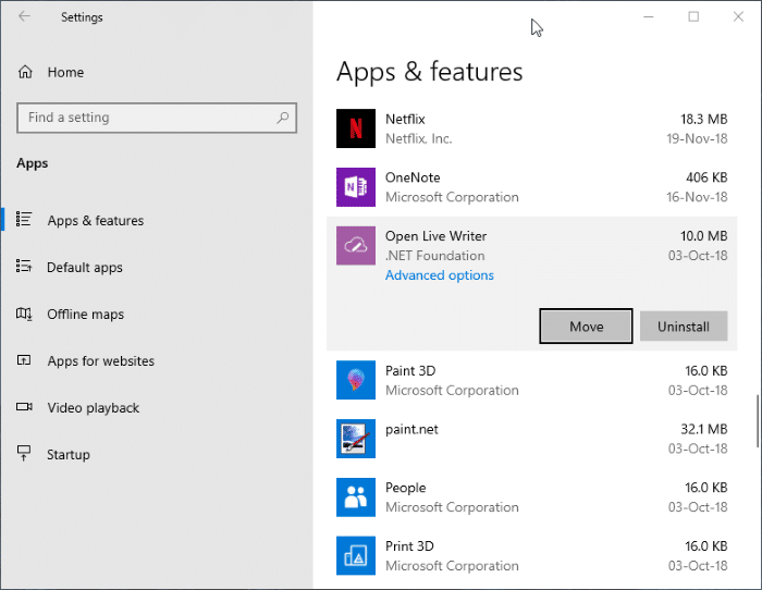 change download location of Windows Store apps in Windows 10 pic4