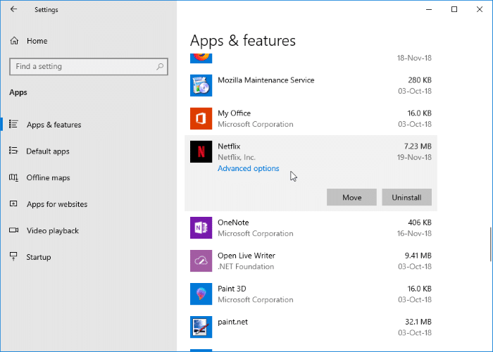 change netflix download location in Windows 10 pic03