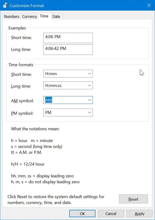 Change Time To 24 Hour Format In Windows 10