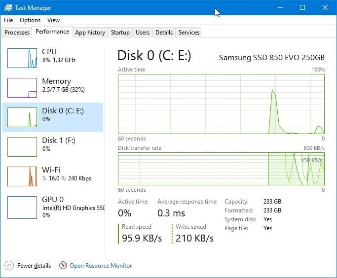 check if your Windows 10 PC has SSD pic1