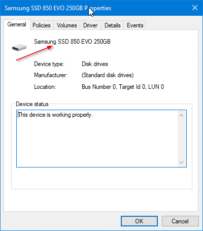 check if your Windows 10 PC has SSD pic3