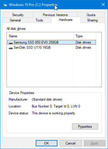 check if your Windows 10 PC has SSD pic5