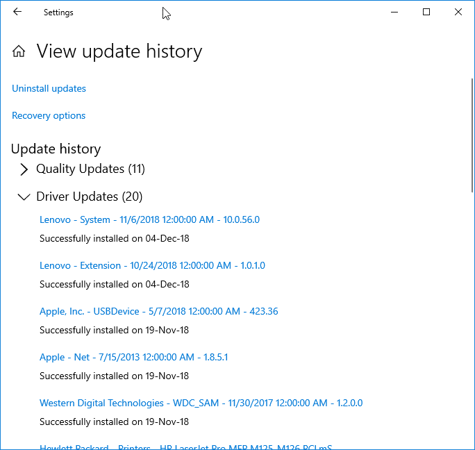 check when the driver was updated in Windows 10 pic1