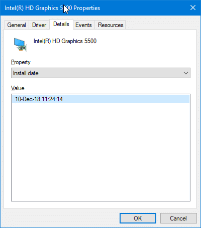 check when a driver was last updated on Windows 10