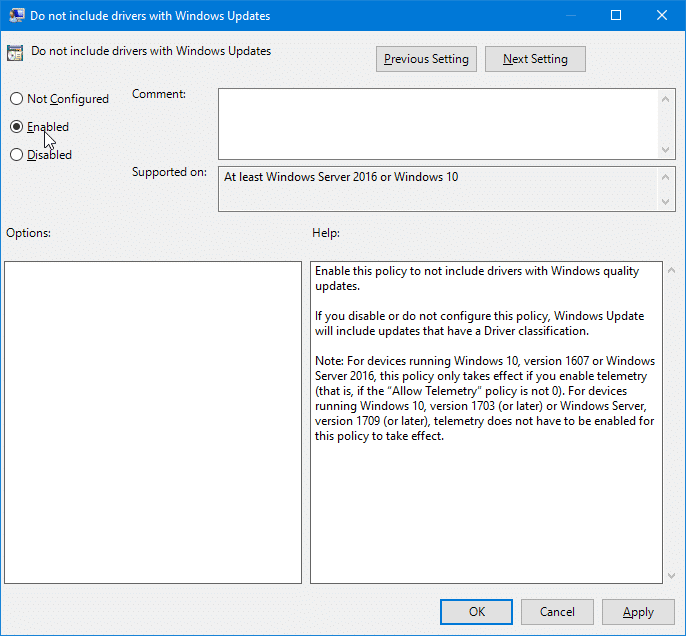 stop Windows 10 from automatically updating drivers pic2