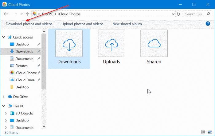 How To Download iCloud Photos To Windows 10 PC