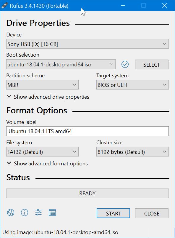 Create bootable Ubuntu USB on Windows 10 pic1