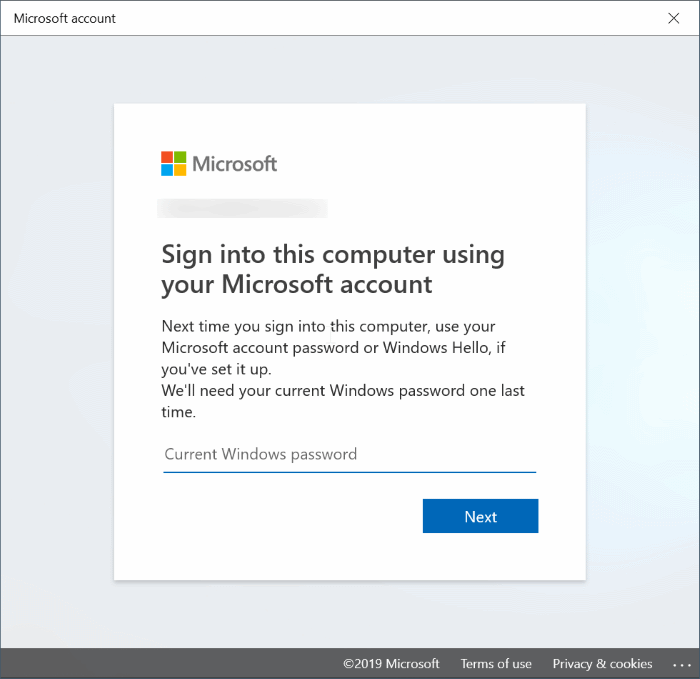 switch between local and Microsoft accounts in Windows 10 pic8