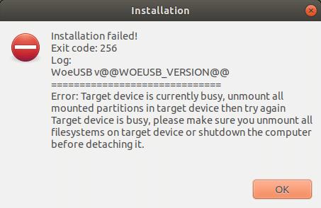 Create Windows 10 Bootable USB on Linux (11)
