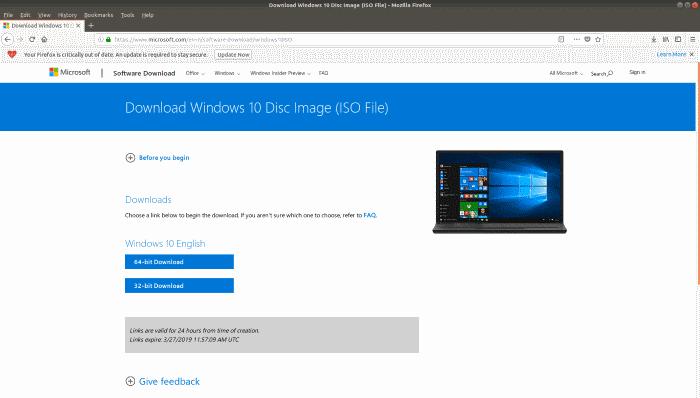 Create Windows 10 Bootable USB on Linux (5)