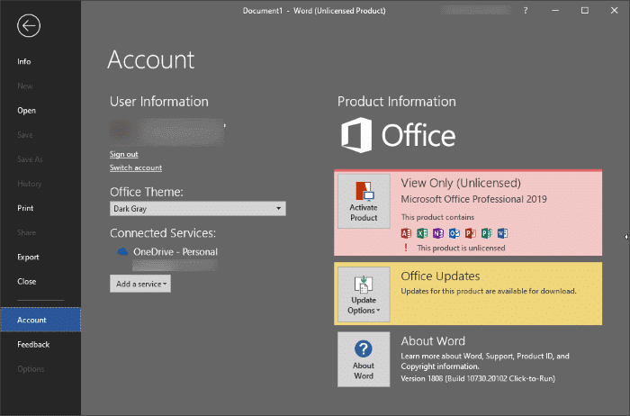 how long can you use microsoft office without activation pic3