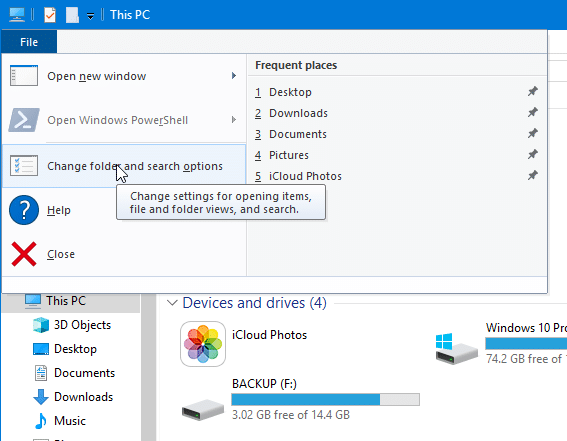 quick access not showing recent files in Windows 10 pic1