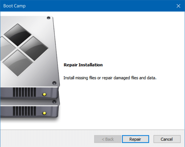 repair and update boot camp drivers in Windows 10 (1)
