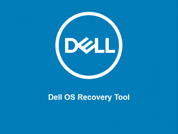 create Dell Windows 10 usb recovery drive