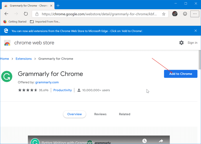 Install Chrome extensions on Microsoft Edge pic4