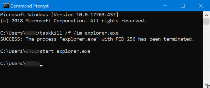 Restart Windows File Explorer in Windows 10 pic2