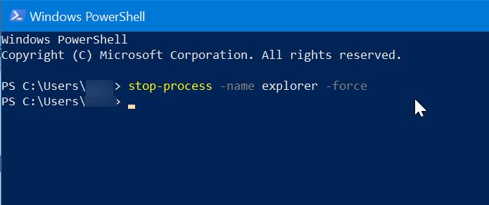 Restart Windows File Explorer in Windows 10 pic3