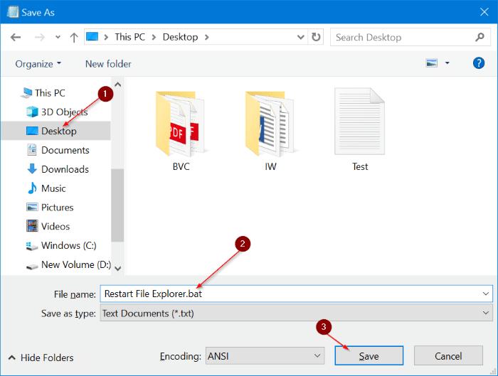 Restart Windows File Explorer in Windows 10 pic9