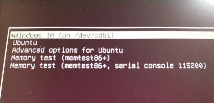 Set Windows 10 as default OS in dual boot with Ubuntu