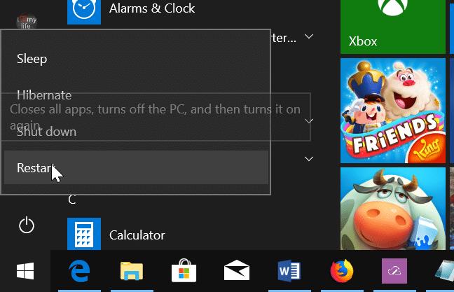 access uefi firmware settings in Windows 10 pic2