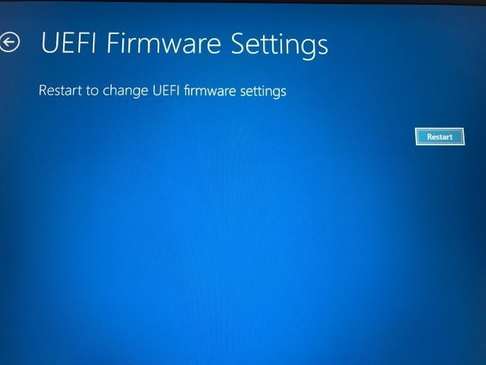 access uefi firmware settings in Windows 10 pic8