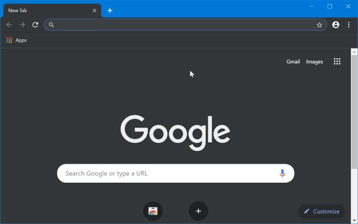 turn on or off dark mode in Google chrome in Windows 10