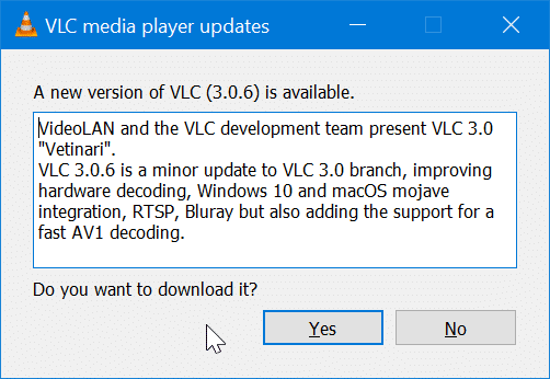 update VLC Media Player to the latest version pic4