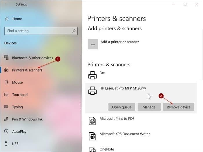 printer jam error even after removing the paper in windows 10 pic1