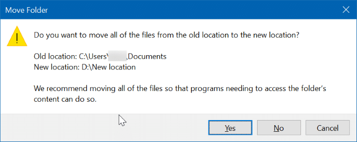 change scanned documents location in Windows 10 pic05